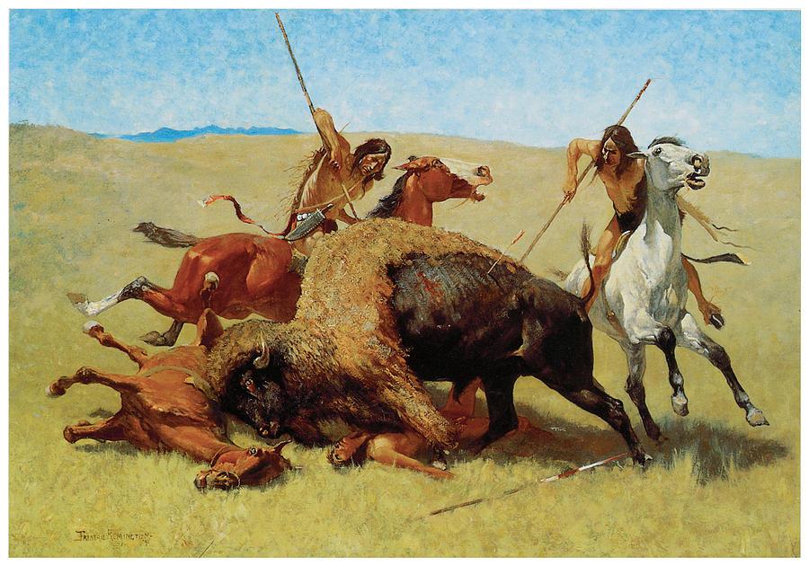 The Buffalo Hunt Painting