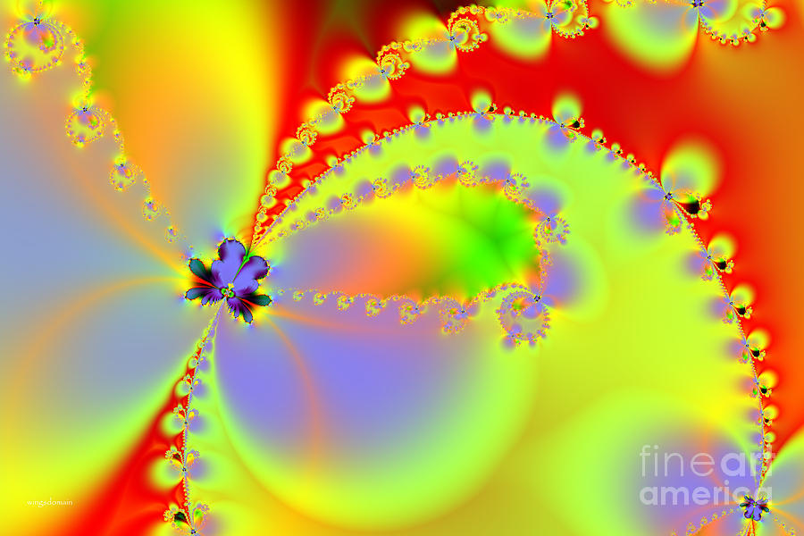 Fractal Digital Art - The Butterfly Effect . Summer by Wingsdomain Art and Photography