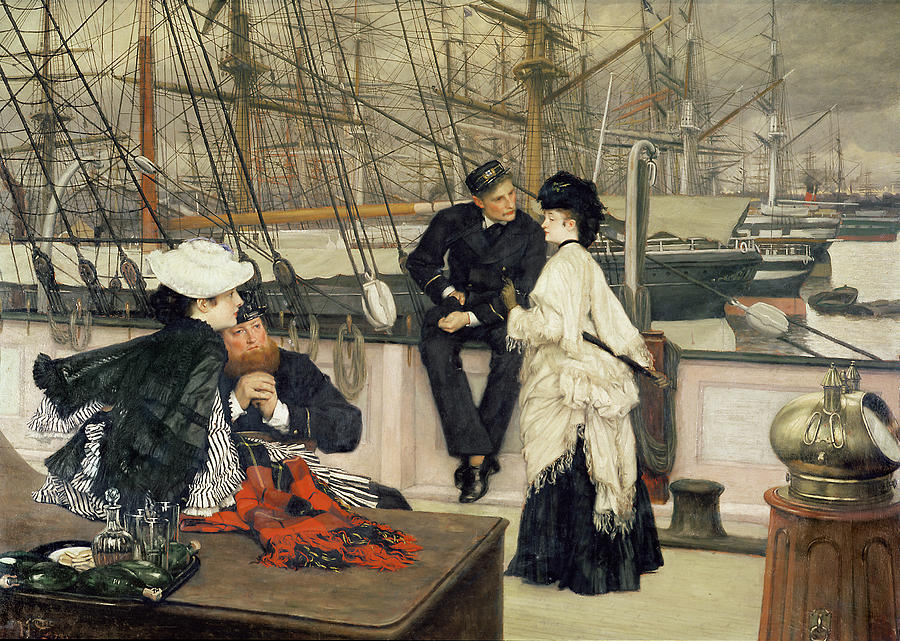 The Painting - The Captain And The Mate by Tissot