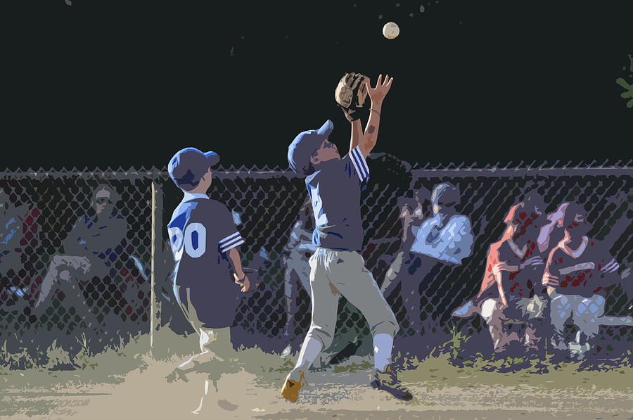 Baseball Photograph - The Catch by Peter  McIntosh