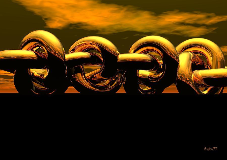Chain Digital Art - The Chain by Robert Orinski