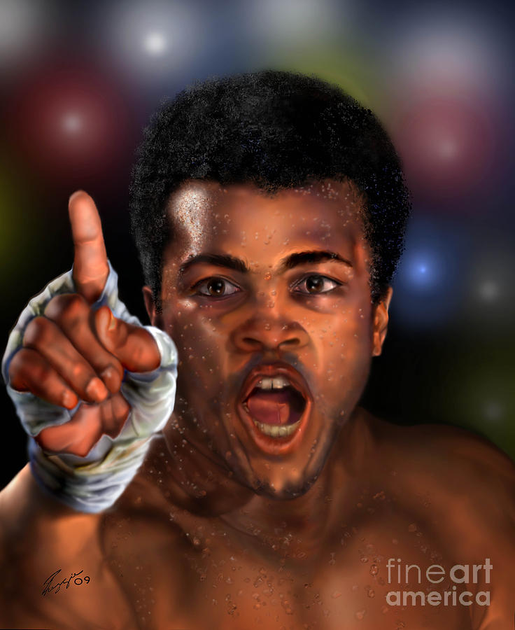 Champion Painting - The Champ Is Here -period by Reggie Duffie