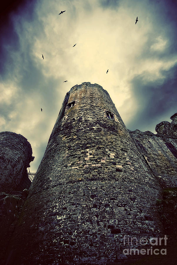 Conway Photograph - The Chapel Tower by Meirion Matthias