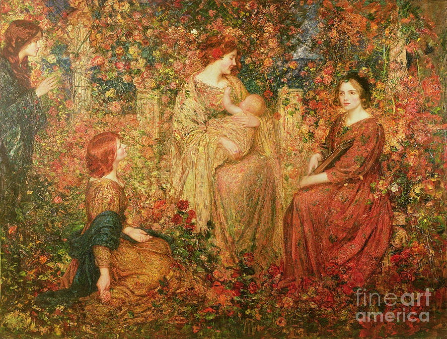 The Painting - The Child by Thomas Edwin Mostyn