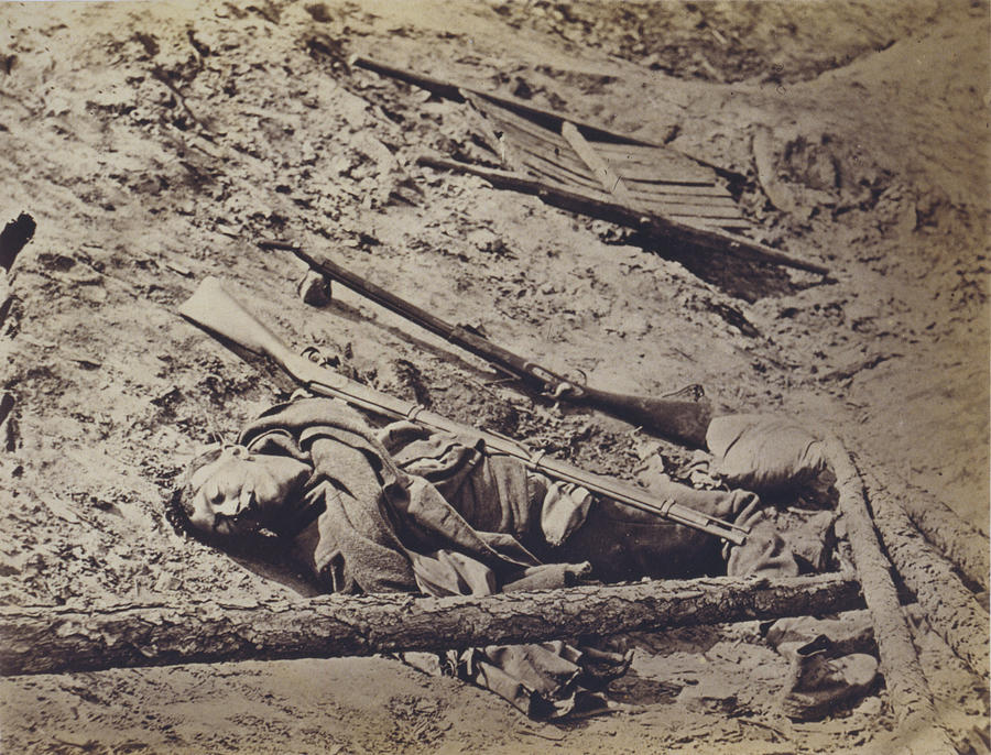 1860s Photograph - The Civil War, Dead Confederate Soldier by Everett