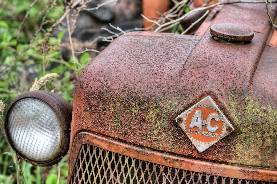 Tractor Photograph - The Classic Allis by JC Findley