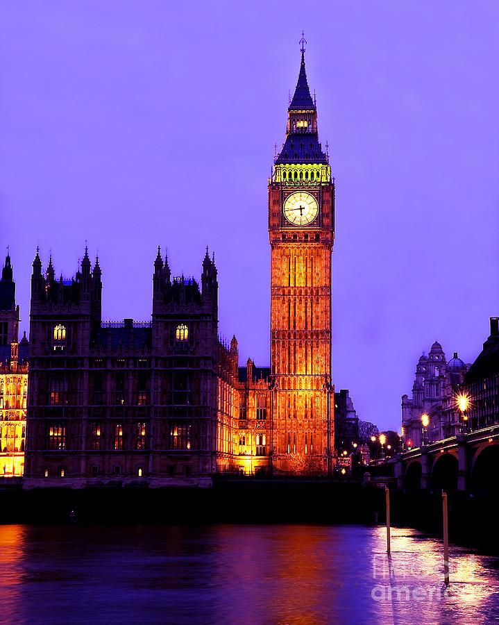 London Photograph - The Clock Tower Aka Big Ben Parliament London by Chris Smith