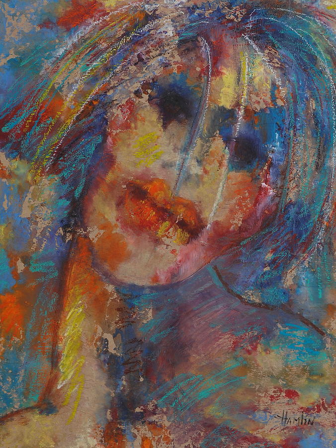 Figure Mixed Media - The Clown by Marcelle Hamelin