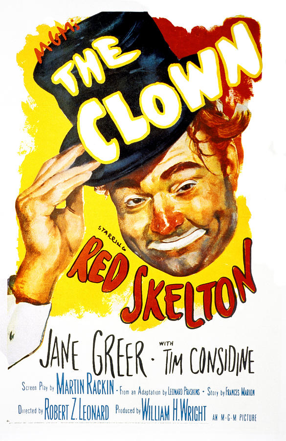 The Clown, Red Skelton, 1953 Photograph