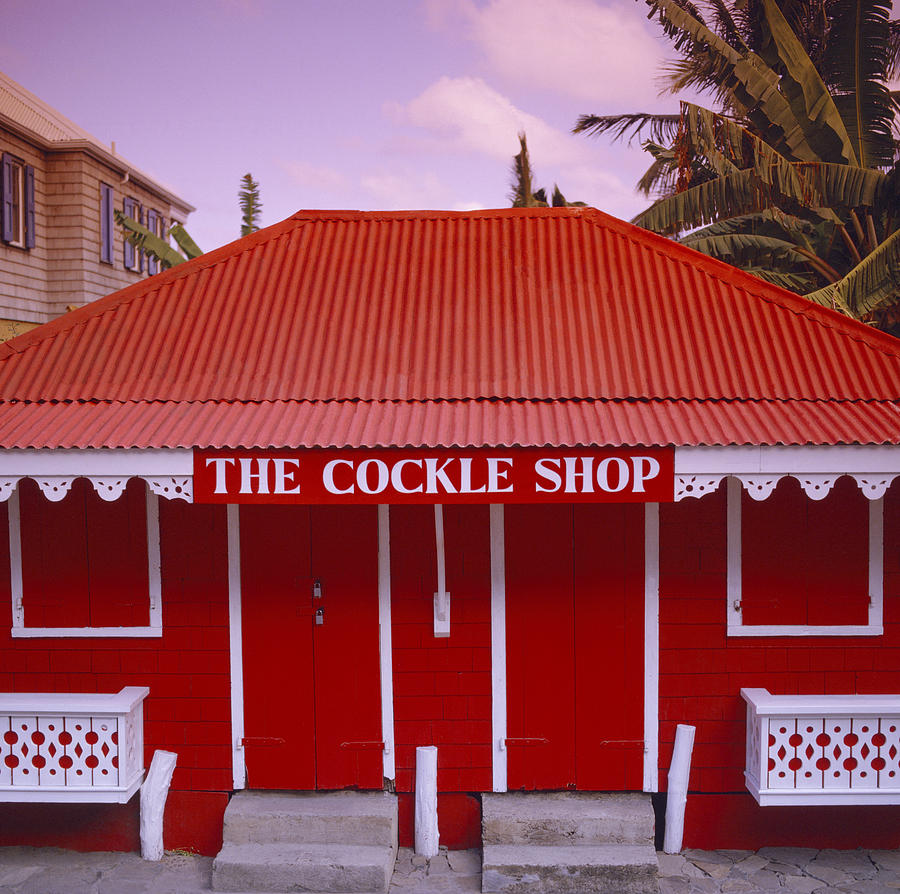 Red Photograph - The Cockle Shop by Shaun Higson