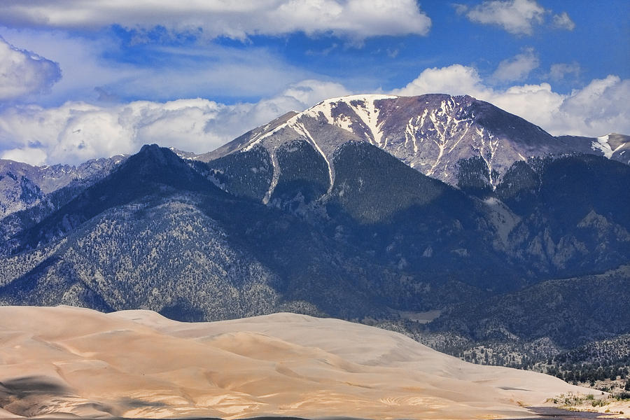 the Great Colorado Sand Dunes Photograph - The Colorado Great Sand Dunes  125 by James BO  Insogna