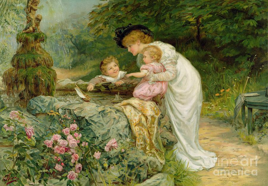 Quaint Painting - The Coming Nelson by Frederick Morgan
