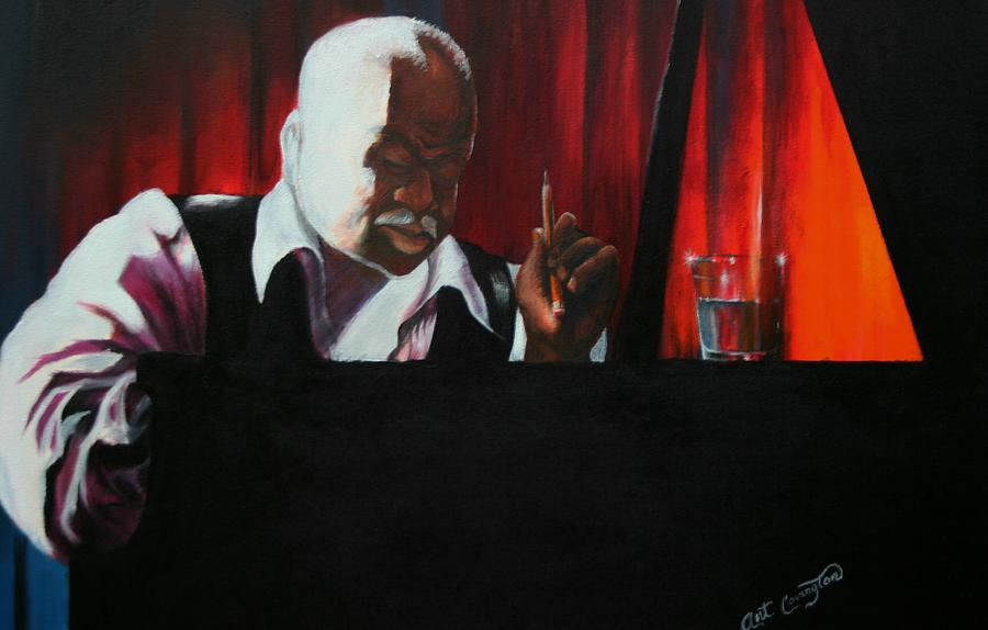 Jazz Musician Painting - The Composer by Arthur Covington