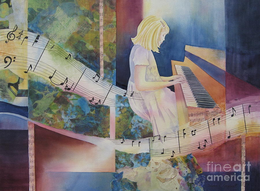 Music Painting - The Composition by Deborah Ronglien