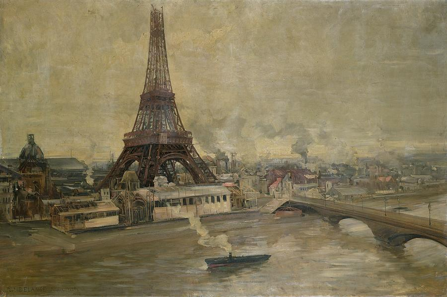 The Painting - The Construction Of The Eiffel Tower by Paul Louis Delance