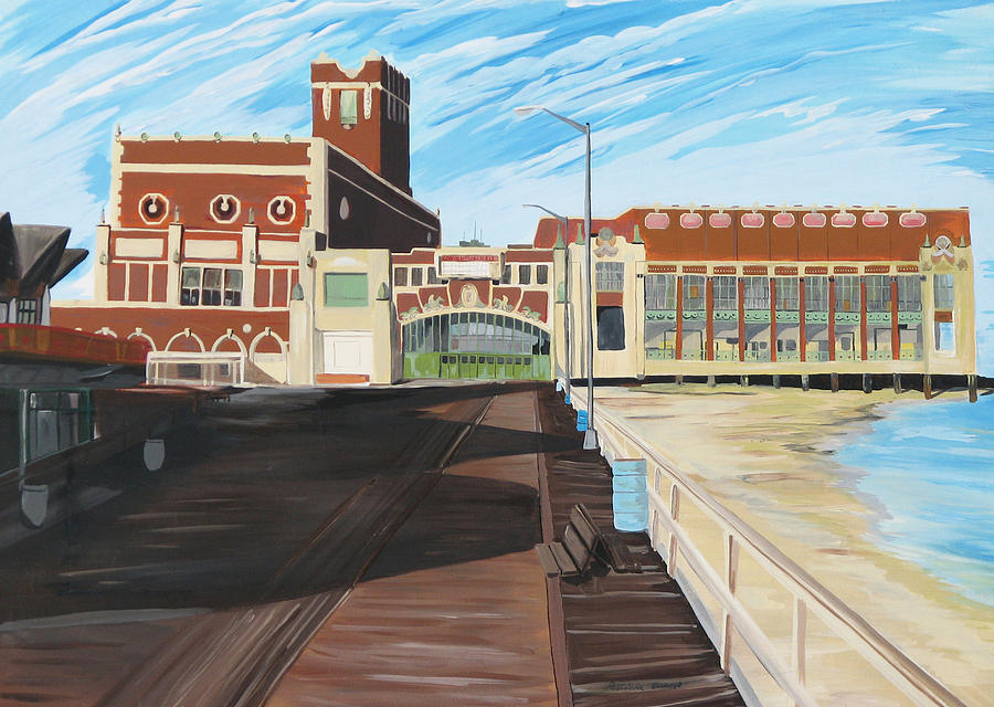 Asbury Art Painting - The Convention Hall  Asbury Park  by Patricia Arroyo