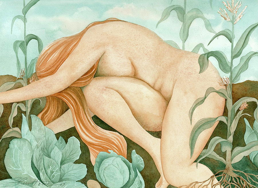 The Corn Maiden Painting