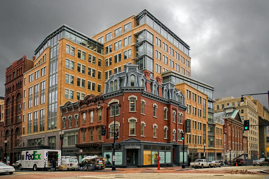 Building Photograph - The Corner by Christopher Holmes
