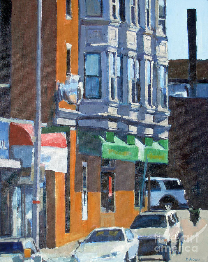 Cityscape Painting - The Corner by Deb Putnam