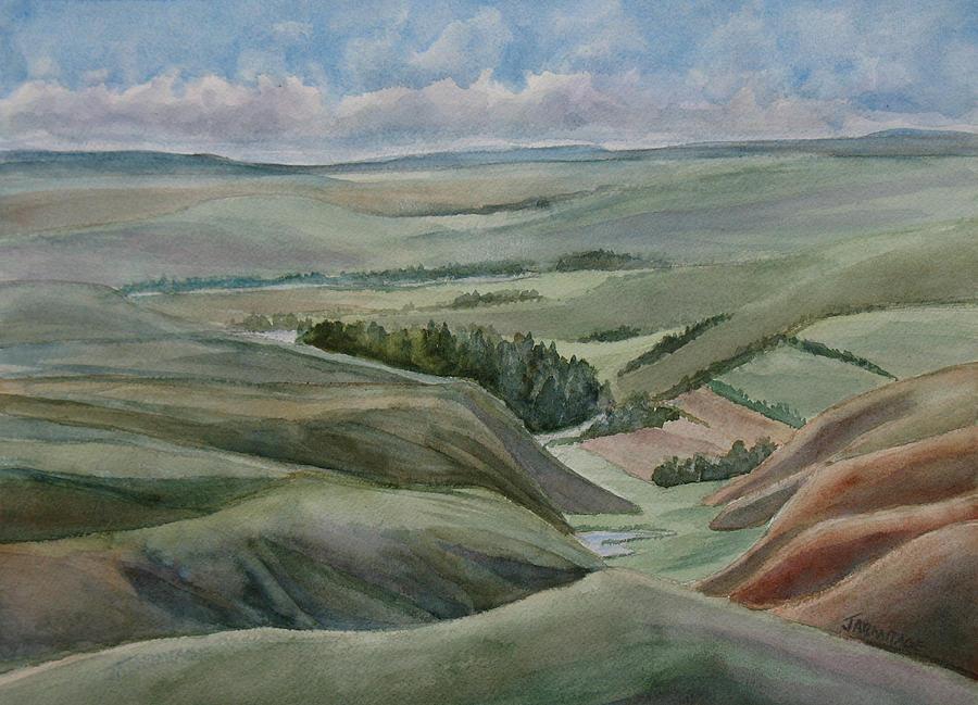 Montana Painting - The Corrugated Plain by Jenny Armitage