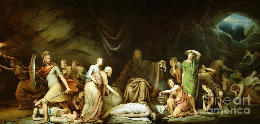 The Painting - The Court Of Death by Rembrandt Peale