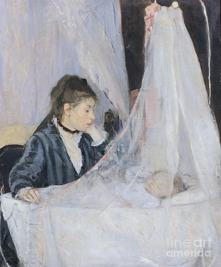 Mother Painting - The Cradle by Berthe Morisot