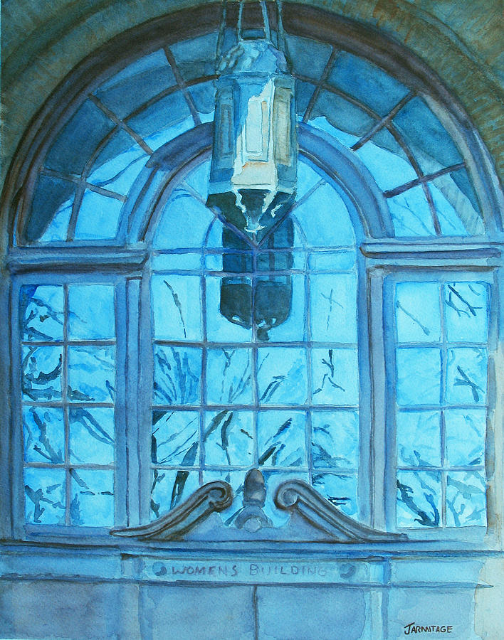 Window Painting - The Craftsmen Lantern by Jenny Armitage