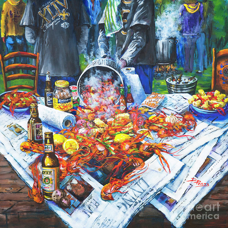 New Orleans Art Painting - The Crawfish Boil by Dianne Parks