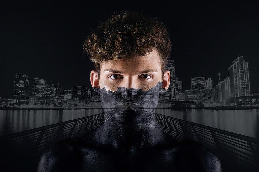 The Dark Side Of A City Boy Digital Art