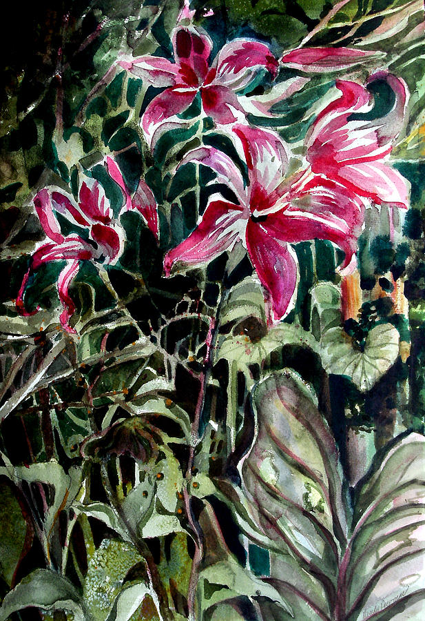 Lily Painting - The Day Lilies by Mindy Newman