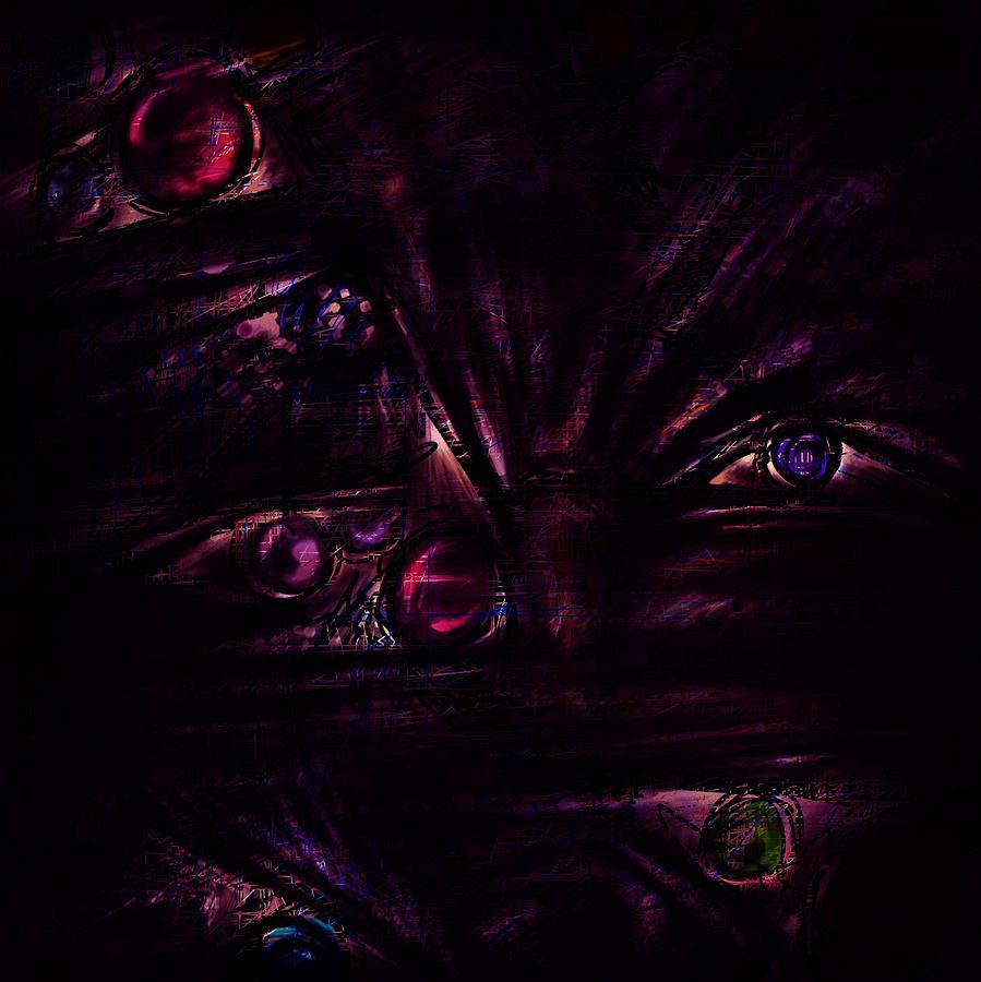 Abstract Digital Art - The Deceiver by Rachel Christine Nowicki