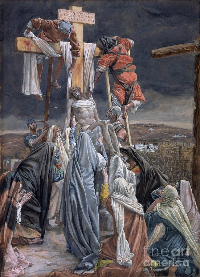 The Painting - The Descent From The Cross by Tissot