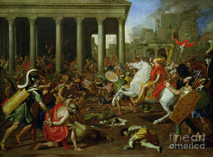 The Painting - The Destruction Of The Temples In Jerusalem By Titus by Nicolas Poussin