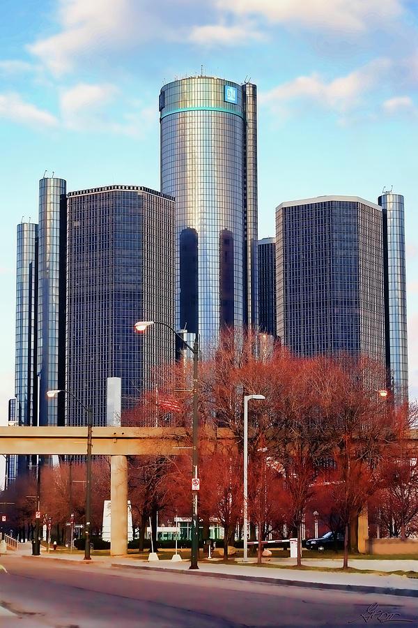Detroit Photograph - The Detroit Renaissance Center by Gordon Dean II