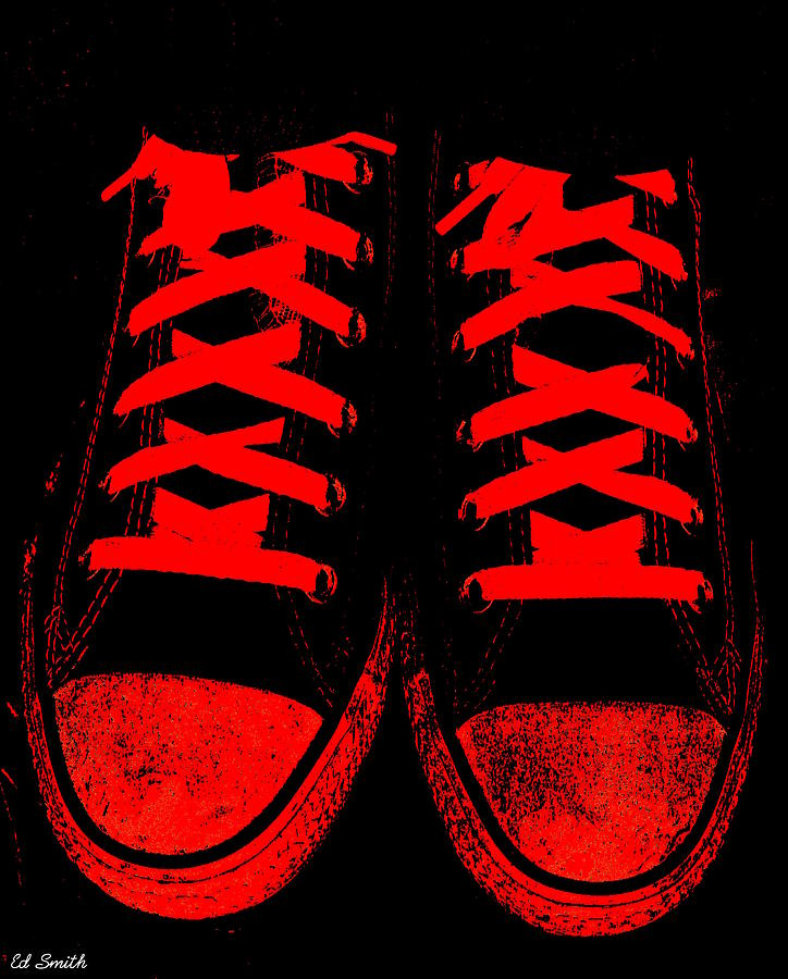 The Devil Wears Converse Photograph - The Devil Wears Converse by Ed Smith