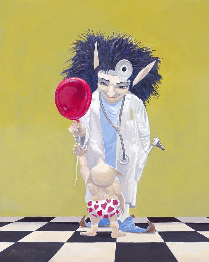 Leonard Filgate Painting - The Doctor by Leonard Filgate