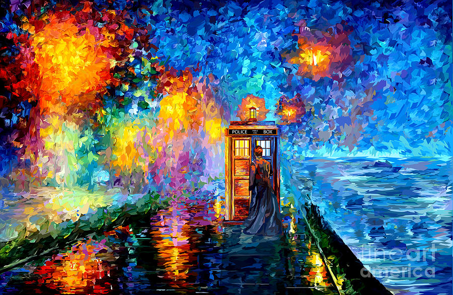 The Doctor Lost In Strange Town Painting