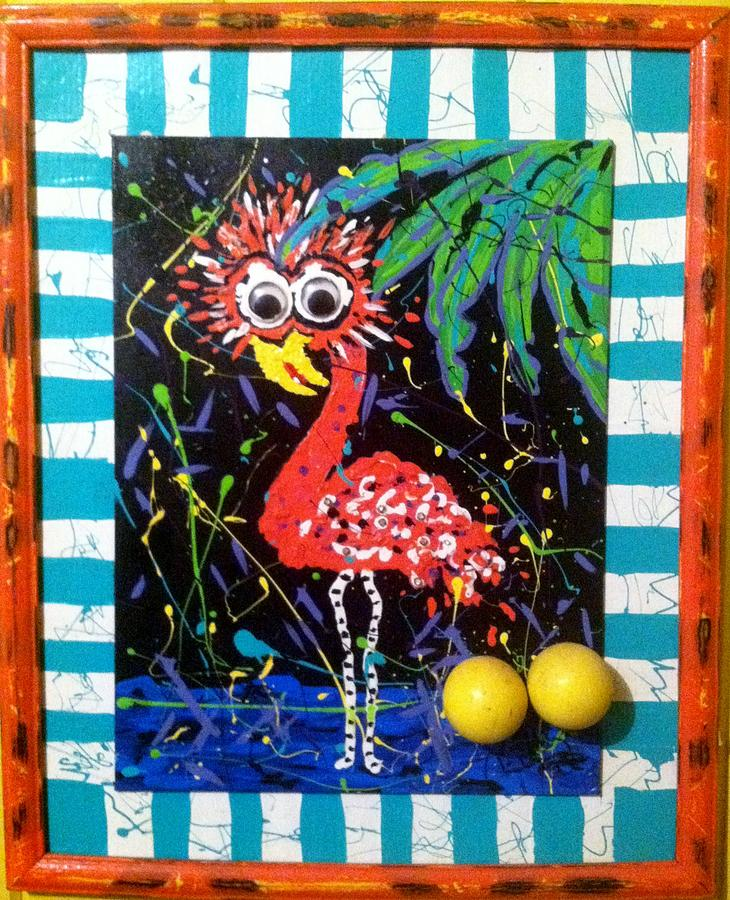 Funky Painting - The Dodo Bird by Doralynn Lowe