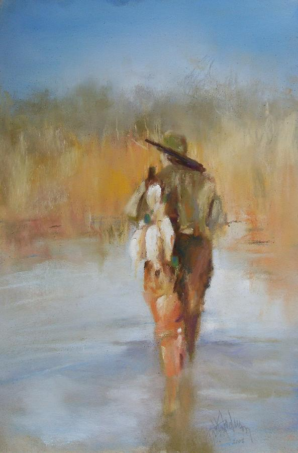 Duck Painting - The Duck Hunter by Debbie Anderson