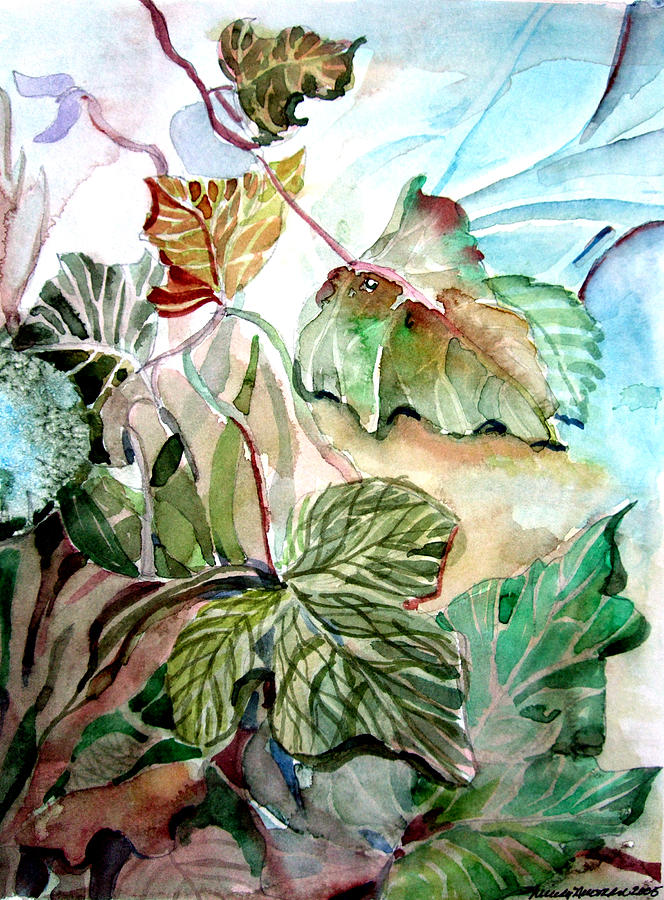 Ivy Painting - The Dying Hearts by Mindy Newman