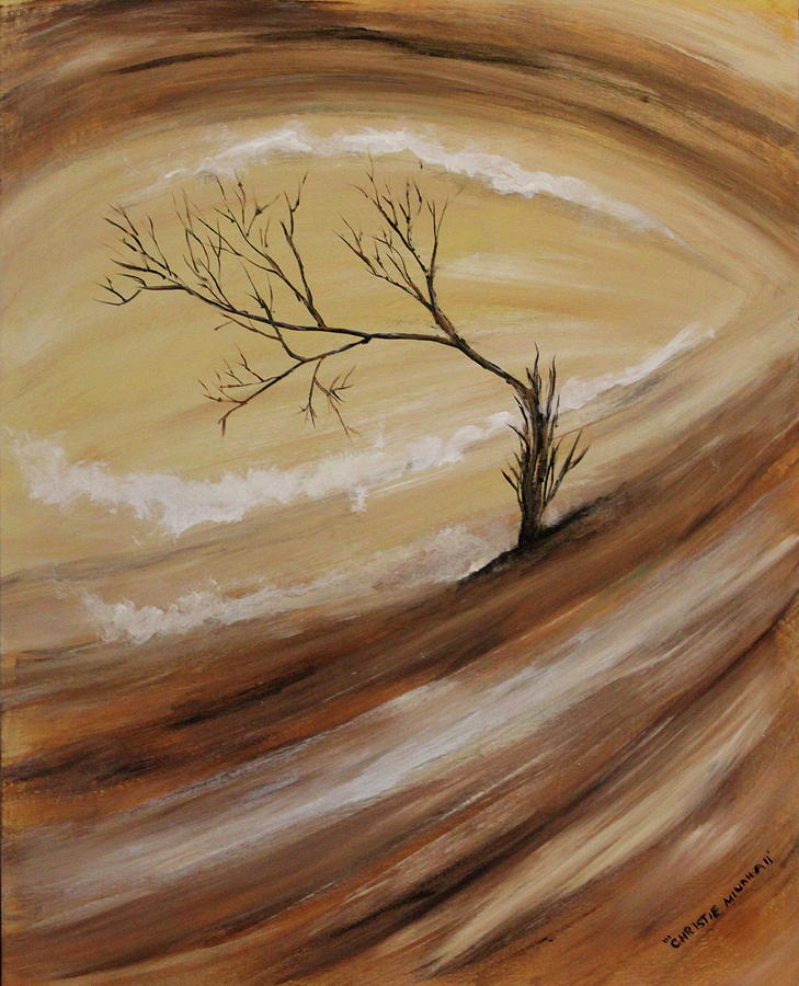 Tree Painting - The Edge by Christie Minalga