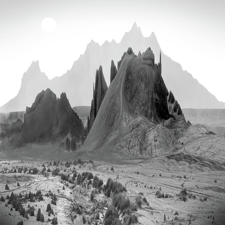 Mountains Digital Art - The Edge by Mike McGlothlen