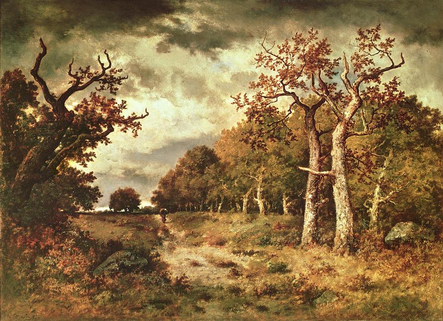 The Painting - The Edge Of The Forest by Narcisse Virgile Diaz de la Pena