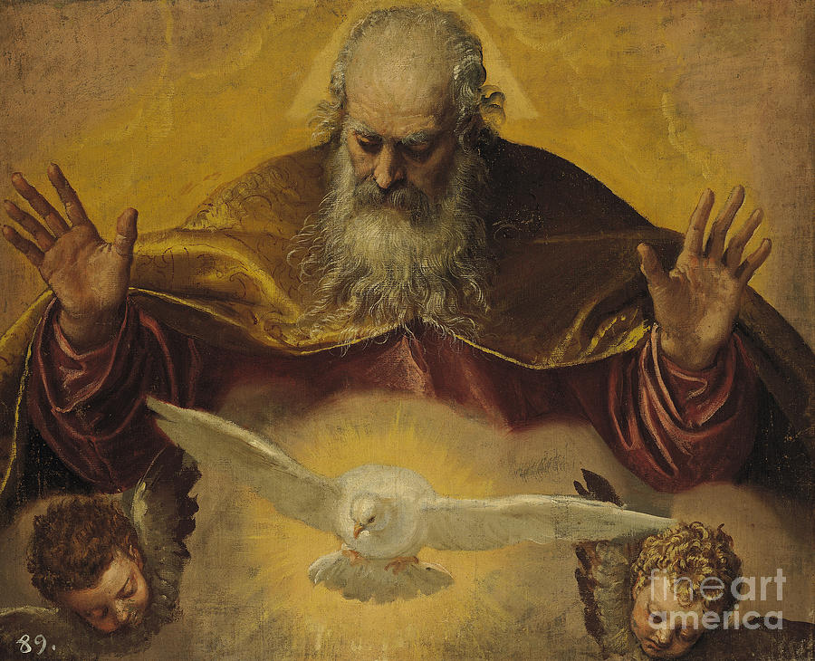 The Painting - The Eternal Father by Paolo Caliari Veronese