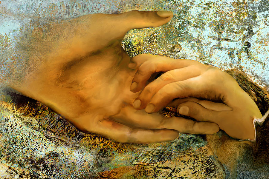 Hand Painting - The Everlasting Creation by Anne Weirich