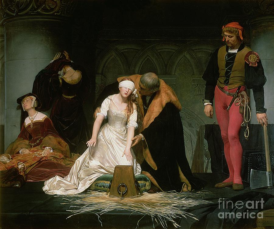 Execution Painting - The Execution Of Lady Jane Grey by Hippolyte Delaroche