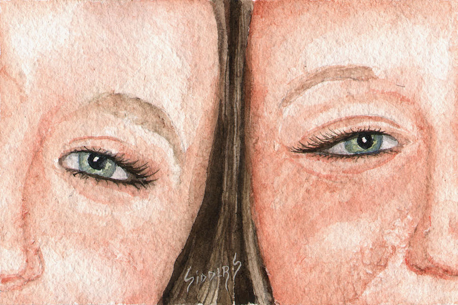 Eyes Painting - The Eyes Have It- K And K by Sam Sidders