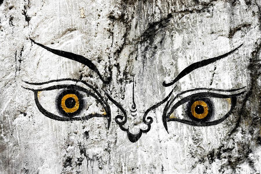 The Eyes Of Guru Rimpoche  Photograph