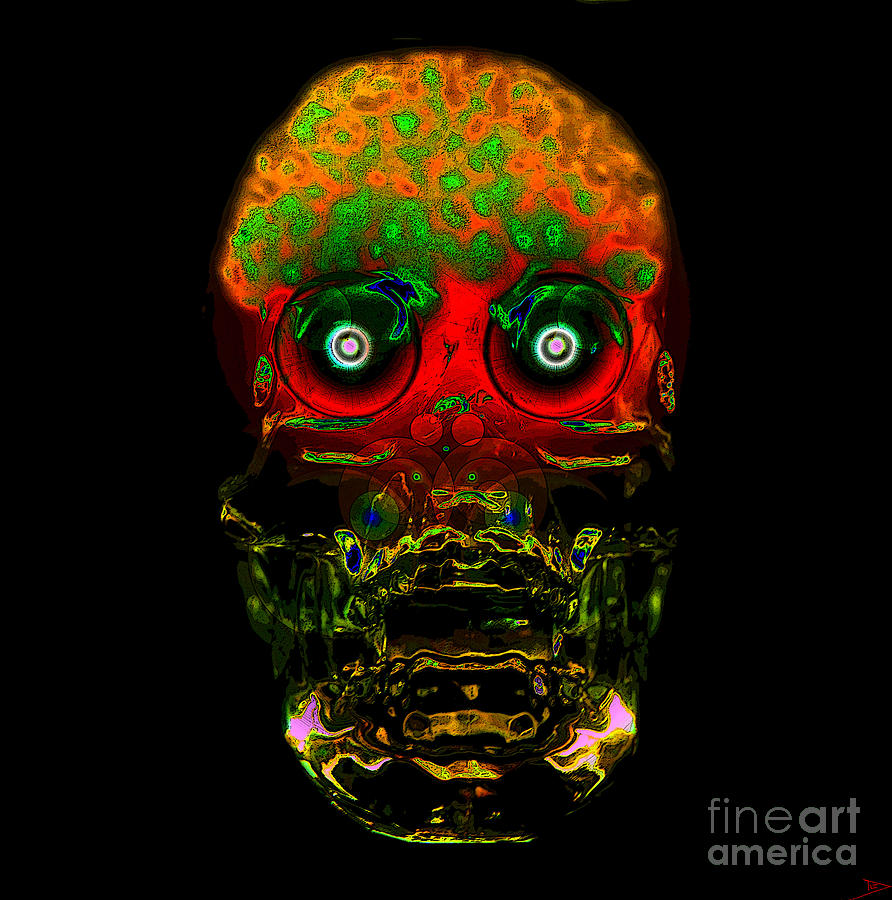 Mind Painting - The Face Of Man by David Lee Thompson