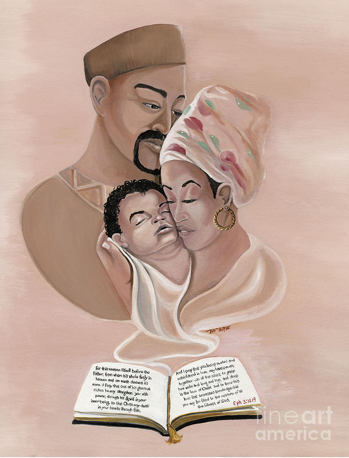 Spiritual Painting Painting - The Family by Toni  Thorne